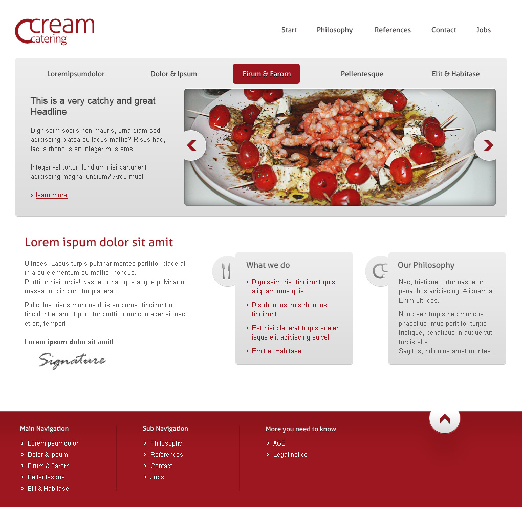 Catering Website 1